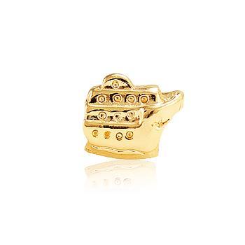 Berloque Navio Ouro PIG04 MOD131