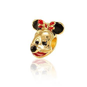 Berloque Minnie Folheado Ouro 18K