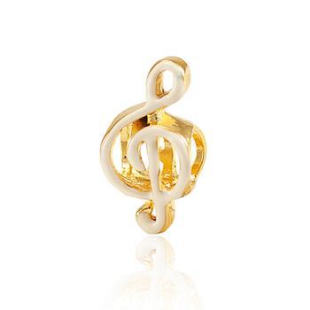 Berloque Clave Musical Folheado Ouro 18K
