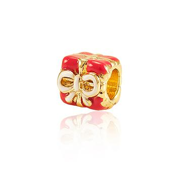 Berloque Presente Folheado Ouro 18K