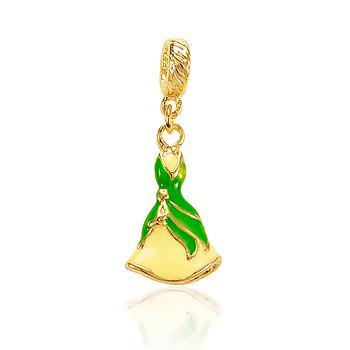 Berloque Princesa Tiana Folheado Ouro 18K