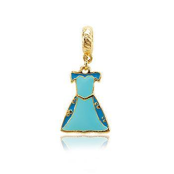Berloque Princesa Cinderela Folheado Ouro 18K