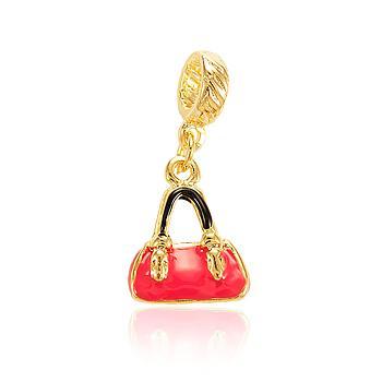 Berloque Bolsa Folheado Ouro 18K