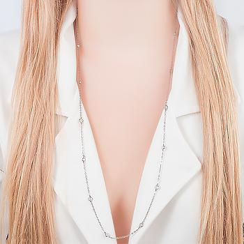 Colar Tiffany Folheado Ródio Negro Cristal