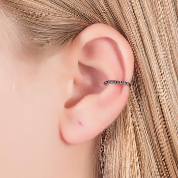 Piercing Fake Micro Zircônia Negra Folheado Ródio Negro