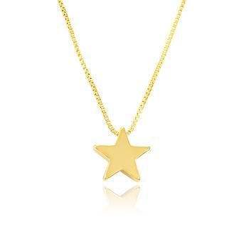 Colar Estrela Folheado Ouro 18K