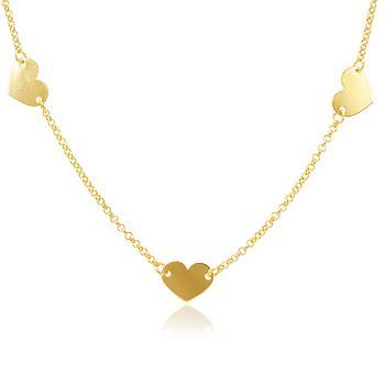 Colar Folheado Ouro 18K Coração