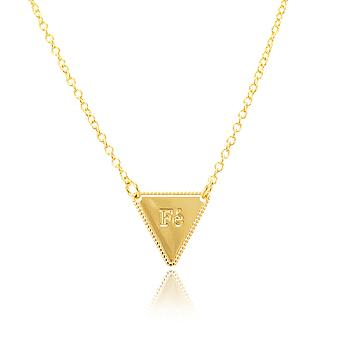 Colar Folheado Ouro 18K com Triangulo Fé