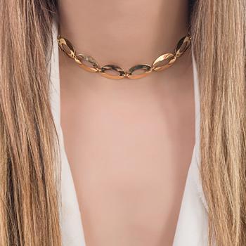 Colar Choker Folheado Ouro 18K Inspired Juliana Paes