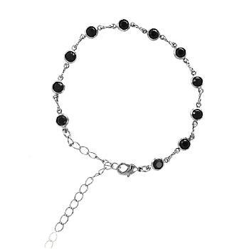 Pulseira Tiffany Folheada Ródio Negro com Zircônia Negra