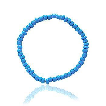 Pulseira Miçanga Azul Neon