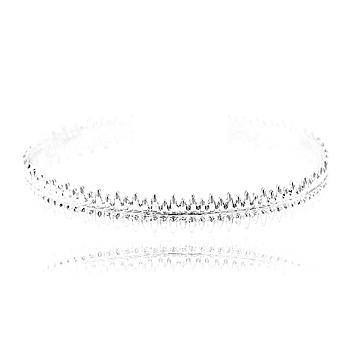 Bracelete Folheado Ródio Detalhado