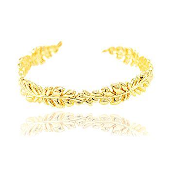 Bracelete Folheado Ouro 18K Galhos com Folhas