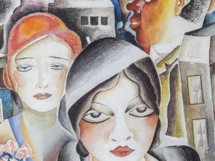 Emiliano Di Cavalcanti. Cena da Rua, 1931.