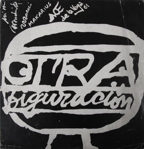 """Tapa catálogo """"Otra figuración"""". Galería Peuser, 1961."""