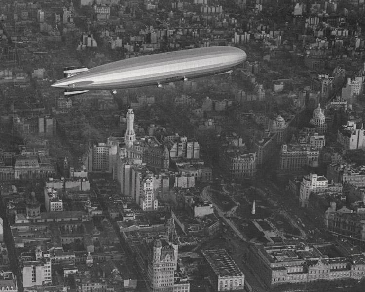 Juan Di Sandro. El Graf Zeppelin sobre Buenos Aires, 1934.