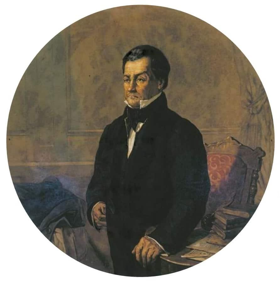 retrato do Ministro da Justiça Padre Diogo Antônio Feijó