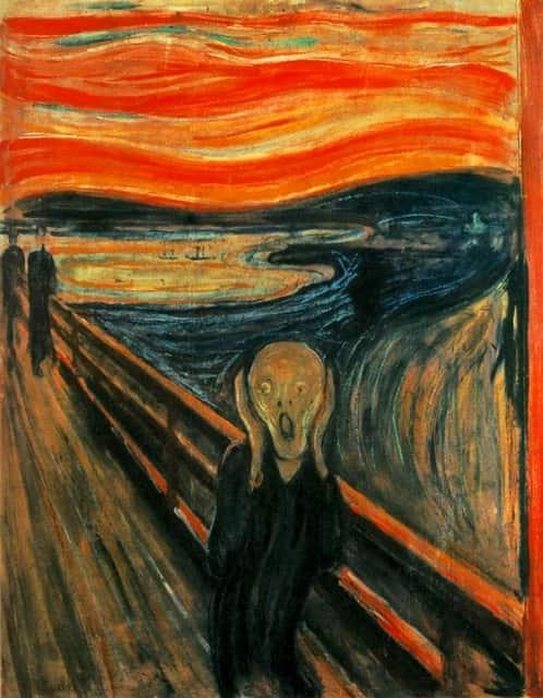 """Quadro """"O Grito"""", do pintor expressionista Edvard Munch."""