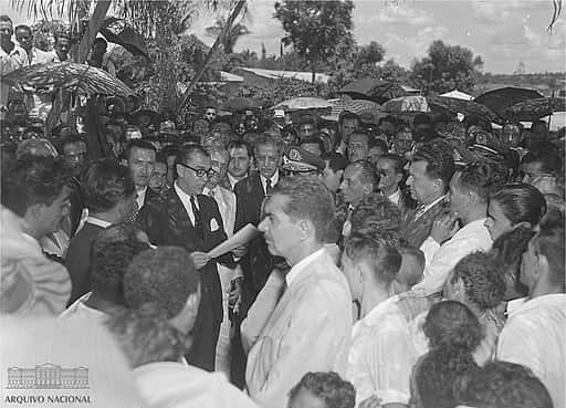 Discurso de Juscelino Kubitschek em Goiás em 1958.