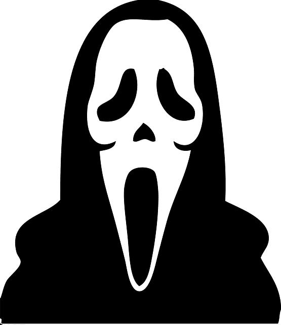 """Máscara do filme """"Pânico""""."""