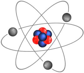 Prótons e nêutrons dividem espaço dentro do núcleo do átomo.