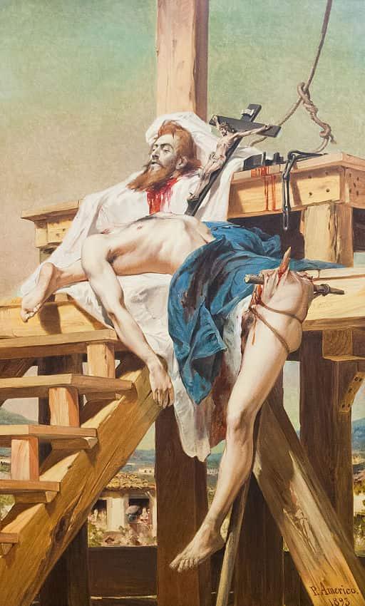 """""""Tiradentes esquartejado"""" pintado por Pedro Américo."""
