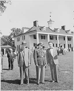 Fotografia do Presidente Dutra em visita aos Estados Unidos em 1949.