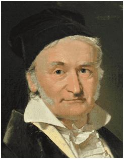 Retrato do matemático Carl Friedrich Gauss, por Christian Albrecht Jensen.