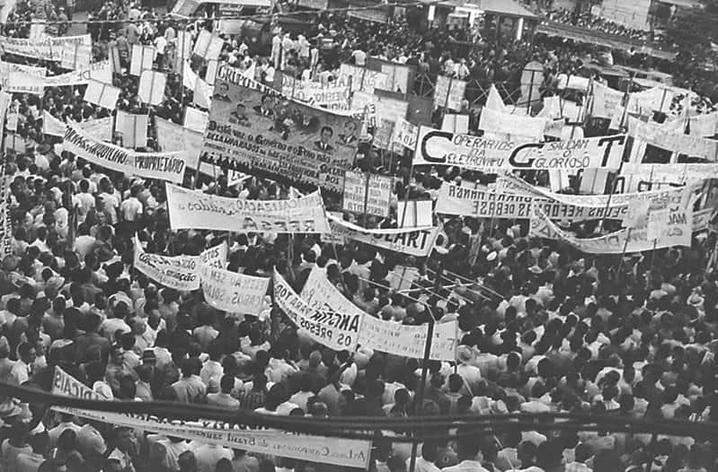 Comício da Central do Brasil no Rio de Janeiro.