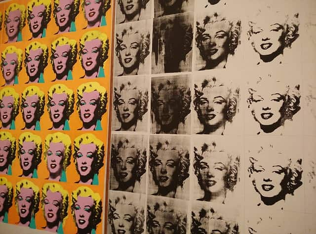 Marilyn Monroe vista pelos olhos de Warhol