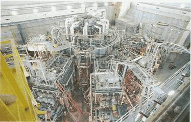 Reator Tokomak experimental de fusão do Princeton Plasma Physics Laboratory.