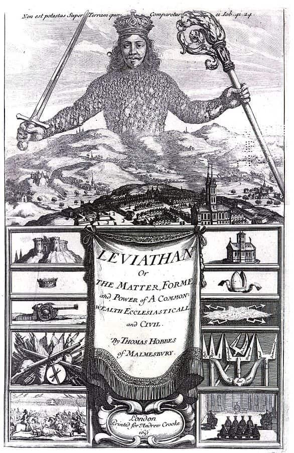 capa do livro Leviatã de Thomas Hobbes