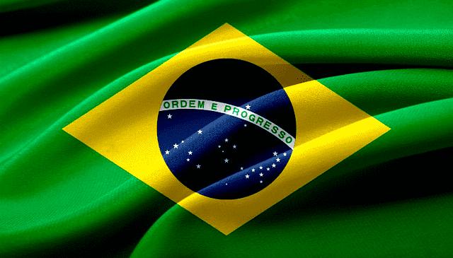 """bandeira brasileira. Com o texto """"Ordem e Progresso"""", mensagem positivista"""