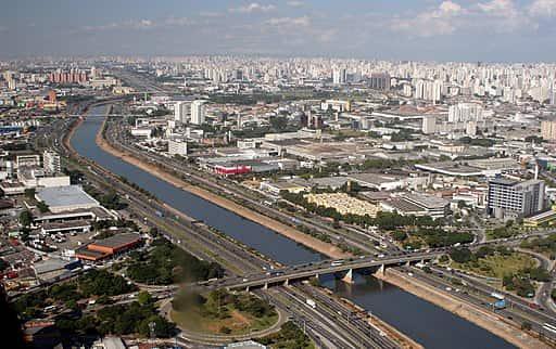 São Paulo, maior metrópole brasileira.
