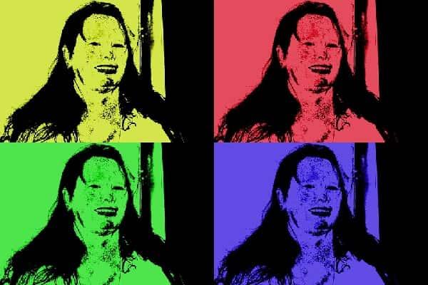 Obra com características da Pop Art, feita por Andy Warhol.