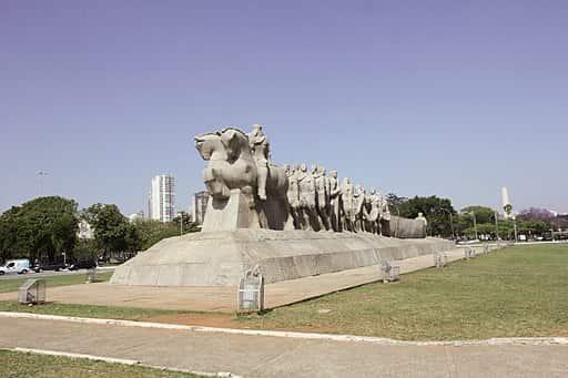 """Monumento """"Às Bandeiras"""", em homenagem aos bandeirantes, localizado na cidade de São Paulo"""