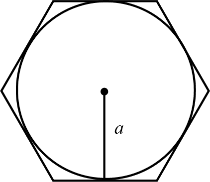 a reta a representa o apótema do polígono.