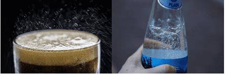 Bebidas carbonadas.