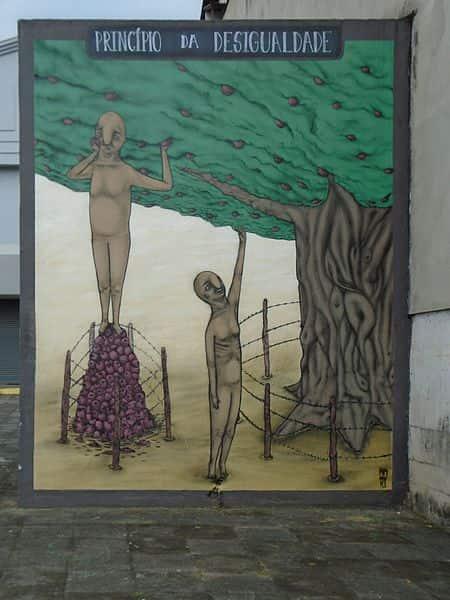 Obra de Eugenio Hansen sobre desigualdade.