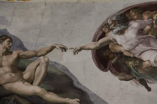 A Criação de Adão, de Michelangelo.