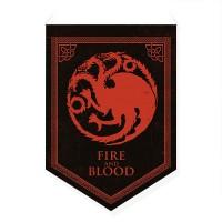 Bandeirola Casas Westeros Targaryen - Game of Thrones