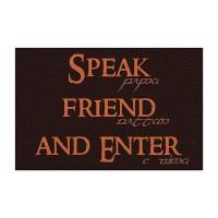 Capacho Speak Friend and Enter - O Senhor dos Anéis