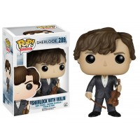 Boneco Sherlock Holmes com Violino - Série Sherlock - Funko Pop!