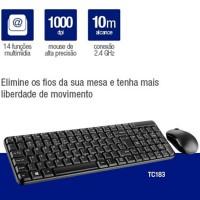 Kit Teclado e Mouse sem Fio 2.4GHz Multilaser