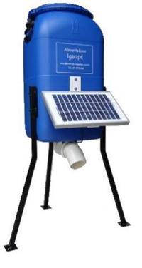 Alimentador para peixes, Igarapé, 50 Litros, Painel Solar