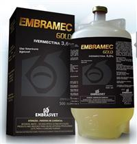 EMBRAMEC GOLD 3.6% 500 ML ORIGINAL - IVERMECTINA - L.A. - VERMIFUGO INJETÁVEL