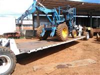 Carreta prancha para transporte de plantadeira