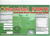 NUTRISAL FORTE , NÚCLEO VITAMÍNICO PARA BOVINOS DE ENGORDA, CRIA E RECRIA