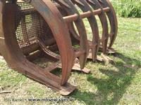 Garra pegadeira garfo canavieiro madeira CAT unhas carregadeira de pneus