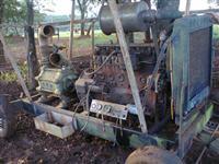 Motor de irrigação MWM 6cc bomba 4-125 carreta 4 rodas painel canos canhões regi